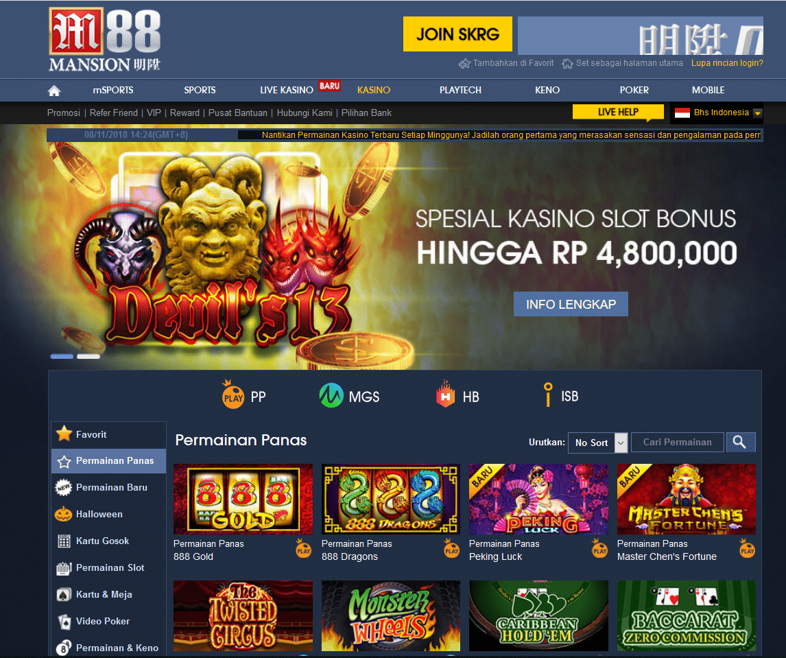 Slot Games Mansion88